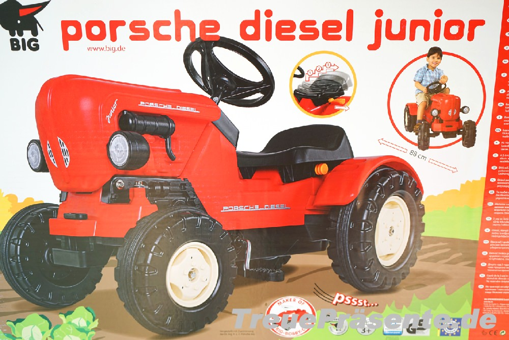 big spielzeug traktor porsche diesel junior. Black Bedroom Furniture Sets. Home Design Ideas